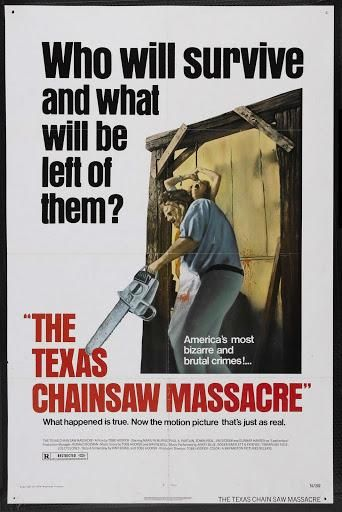 The Texas Chainsaw Massacre poster from the original 1974 movie. This poster is new and measures 24 x 36