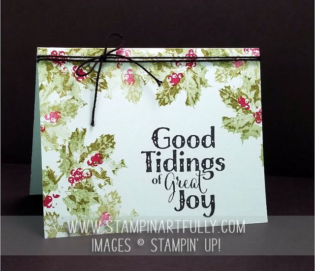 Stampin Artfully: 4 samples on my blog using Good Tidings stamp set.