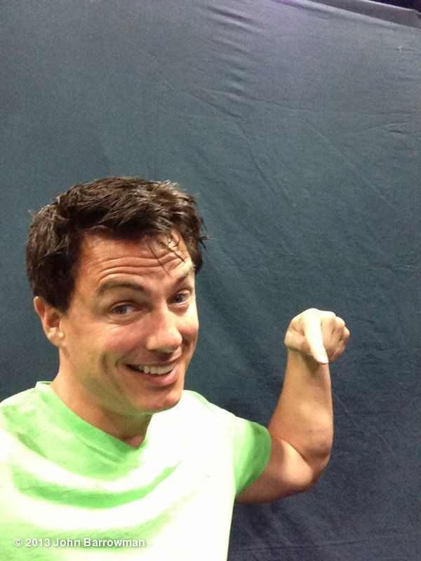 John Barrowman's photo: Booth 3745 @Heather Parisse  Friday 1pm. Sat 4pm sun 2pm photo ops @froggysphotos you could be here. jb