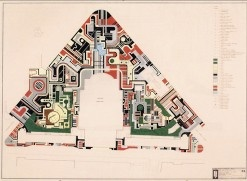 Incredibly intricate landscape plan by Burle Marx.
