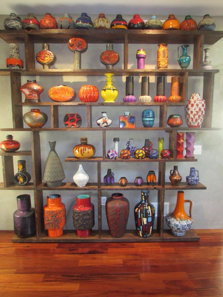 Stunning Fat Lava Vintage west German Vase Collection/private collection/colorful home decor/custom made industrial shelf