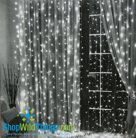 Led Light Curtain 288 Crystal Led Lights 12 Strands 12 Ft Cool White Light String