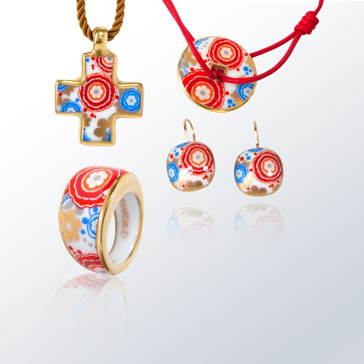 Bernardaud syracuse rouge collection bernardaud porcelaine porcelain jewelry bijoux