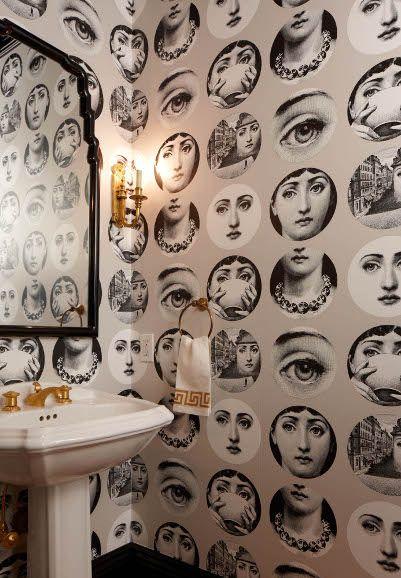 Best 10 fornasetti wallpaper ideas on pinterest - Fornasetti faces wallpaper ...