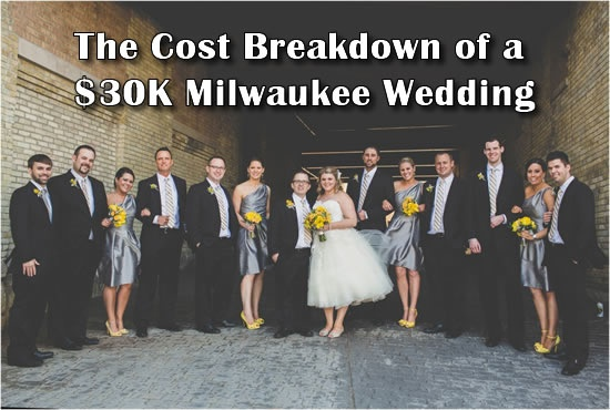 Find out what this couple spent on their $30,000 Milwaukee wedding budget on. Click to read more: http://www.marriedinmilwaukee.com/wedding-cost-breakdown-30k