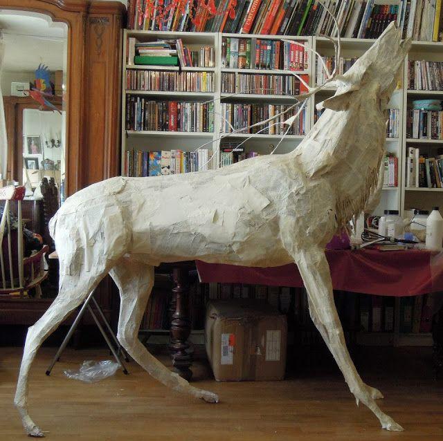 The technique behind Anne-Lise Koehler's beautiful papier-mache animals and birds.