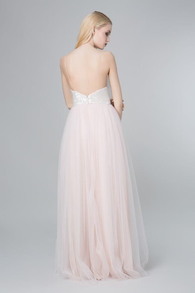SADONI evening dress ZONJA with low back neckline and spagetti straps