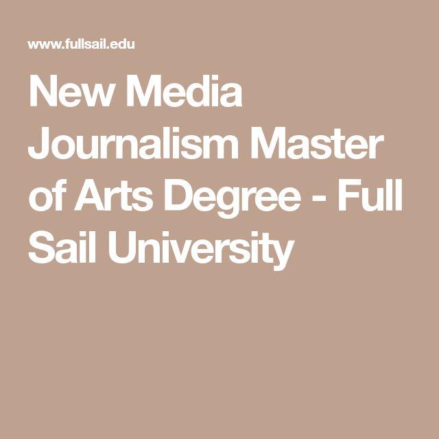 New Media Journalism Master of Arts Degree - Full Sail University