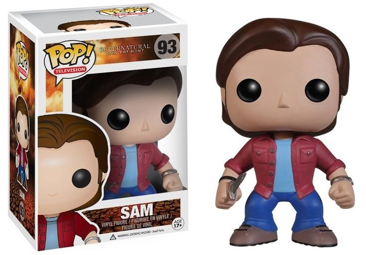 POP Movies: Supernatural Sam Vinyl   Coole Sam   -  POP Figur  aus der beliebten `Supernatural`- Serie. - detailierte Mini- Figur, ca. 10 cm - Vinyl ( Kunststoff) - Lieferung in schicker Fensterbox  22. Dezember - Hadesflamme - Merchandise - Onlineshop für alles was das (Fan) Herz begehrt!