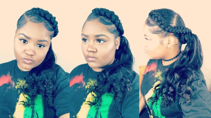 Half Braided Low Side Ponytail | West Kiss Hair Body Wave Review