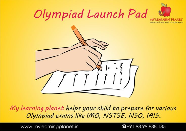 My learning planet helps your child to prepare for various #Olympiad exams like IMO, NSTSE, NSO, IAIS. We accentuate application based #learning. The child learns to answer in #alternate ways as well as they learn various tips and tricks to #solve the questions in a jiffy, accurately. Give your little rockets the launch pad for their journey to the top. Visit www.mylearningplanet.in or call 9899888185.