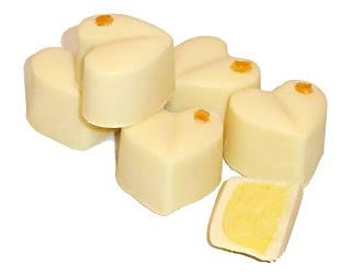 Mango-Ganache Pralinen mit weißer Schokolade