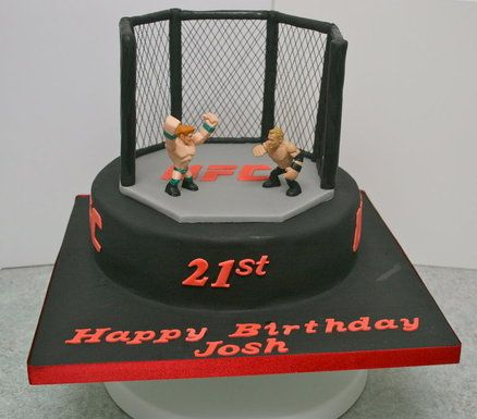 UFC Cage fighting  Cake by Sweet_Tooth #MMA #UFC #Fight 8531 Santa Monica Blvd West Hollywood, CA 90069 - Call or stop by anytime. UPDATE: Now ANYONE can call our Drug and Drama Helpline Free at 310-855-9168.