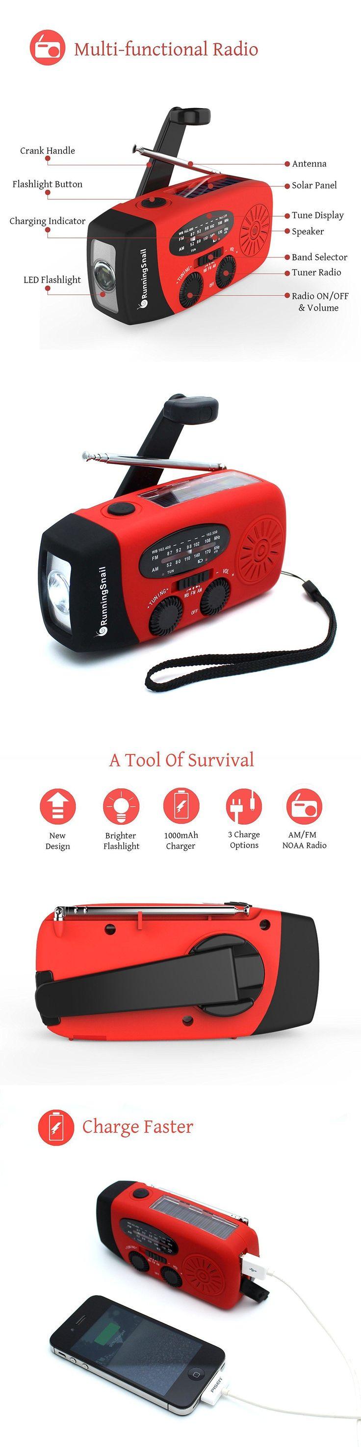 Portable AM FM Radios: Runningsnail Solar Crank Noaa Weather Radio Emergency Tornado Am Fm Power Bank -> BUY IT NOW ONLY: $31.2 on eBay!