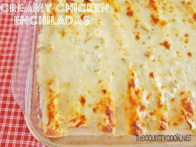 Creamy Chicken Enchiladas: I Always Use Rotisserie Chicken, It Helps Speed Up
