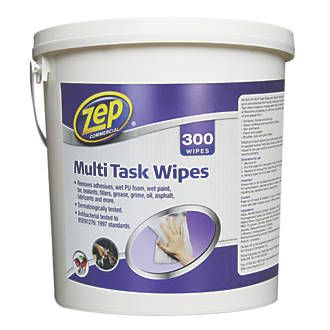 Zep Commercial Multi-Task Wipes White 300 Pack Ideal for quickly and easily cleaning hands, tools and most surfaces without the need for water. Designed to remove wet paint, wet PU foam, adhesives, tar, sealants, fillers, grease, grime, oil, aspha http://www.MightGet.com/january-2017-13/zep-commercial-multi-task-wipes-white-300-pack.asp