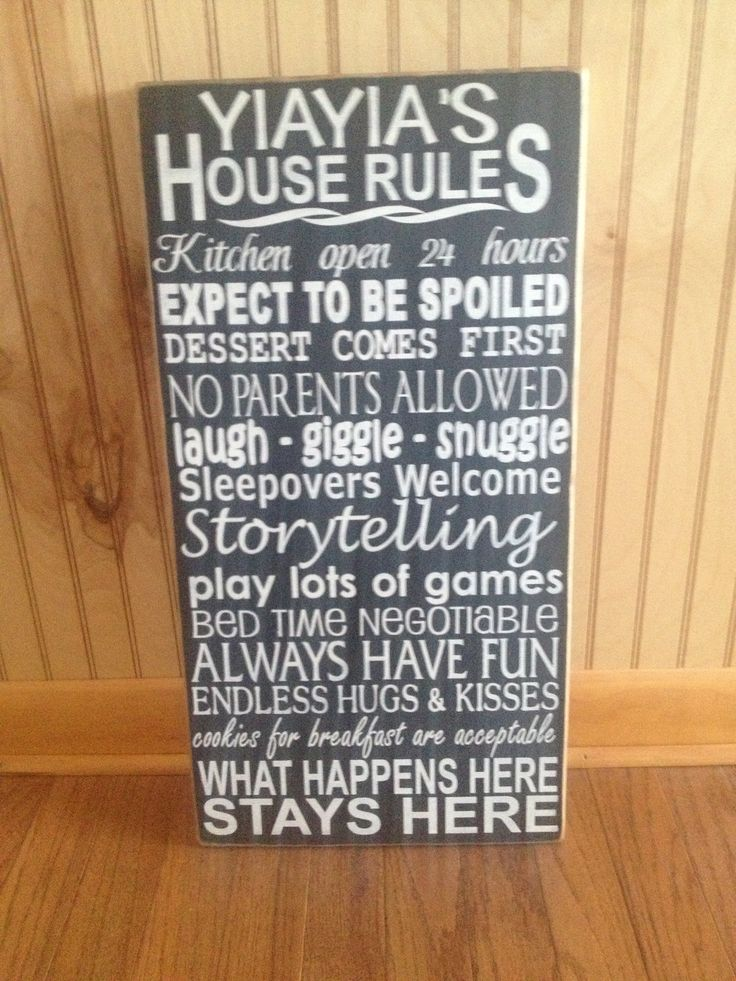 Yiayia's House Rules  Www.facebook.com/Dingbatsanddoodles