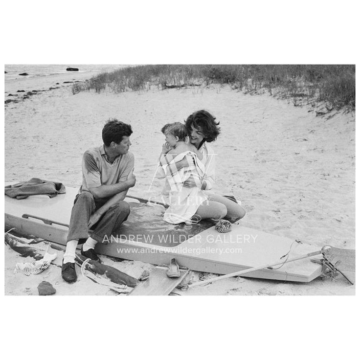 JFK, Jackie and Caroline Kennedy in Hyannis Port #8