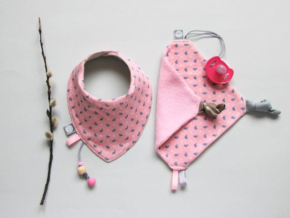 Easter bunny Baby Set Gift for Baby Dribble Bib and от pupaforkids