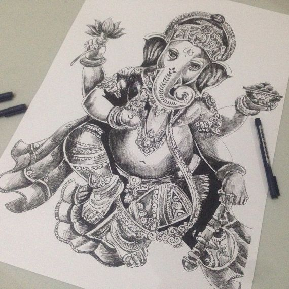 17 Best images about GANESHA on Pinterest | Hand drawings