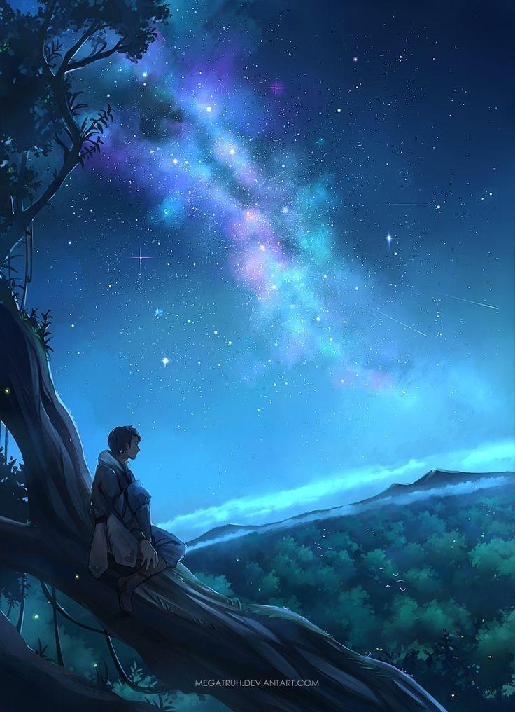 Boy Sitting In A Tree Animation Art Anime Scenery Scenery