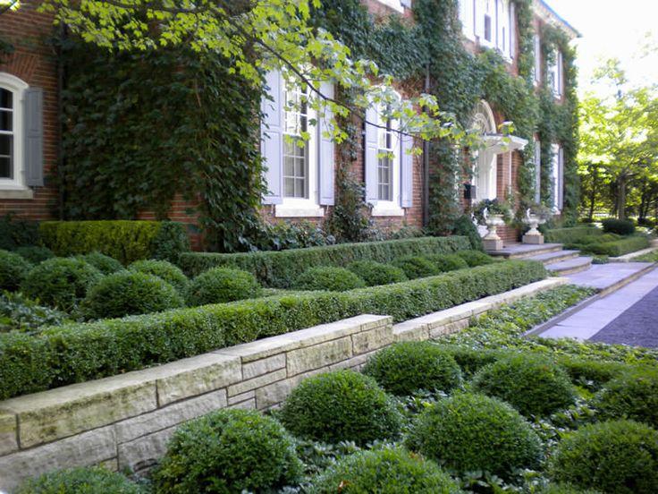 1097 best front landscape images on pinterest yard for Formal english garden designs