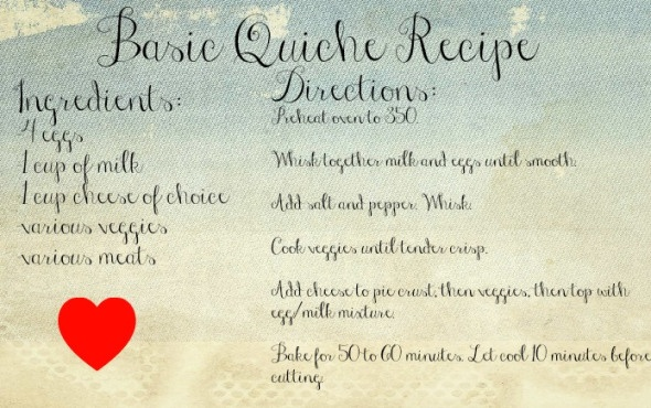 Basic Quiche Recipe! Nice to know just the basic ratios.
