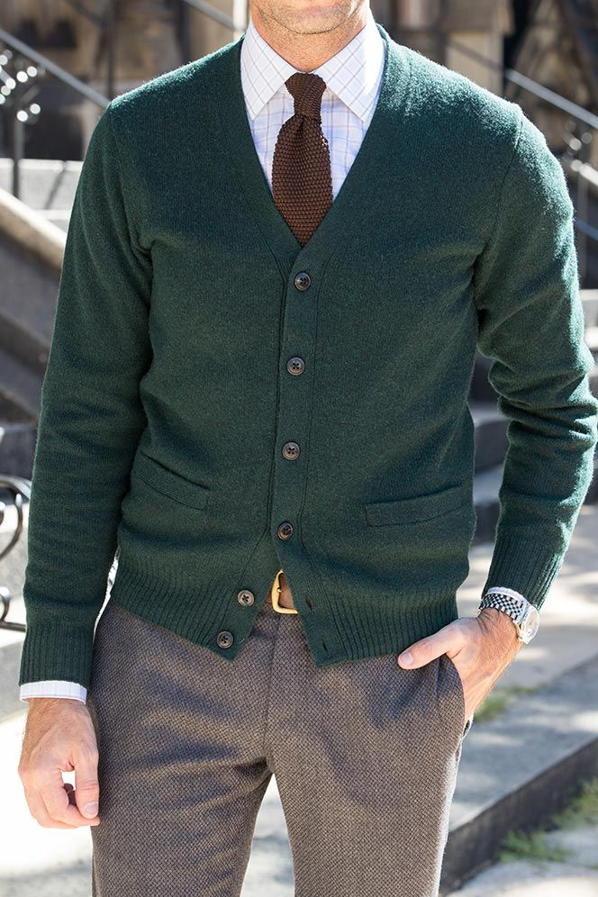 How to wear a Cardigan The Idle Man 61