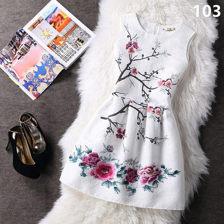 Phong cách mùa hè 2017 thời trang a-line phụ nữ maxi evening tiệc giản dị cổ điển dresses in ấn không tay vestidos de festa dress 153
