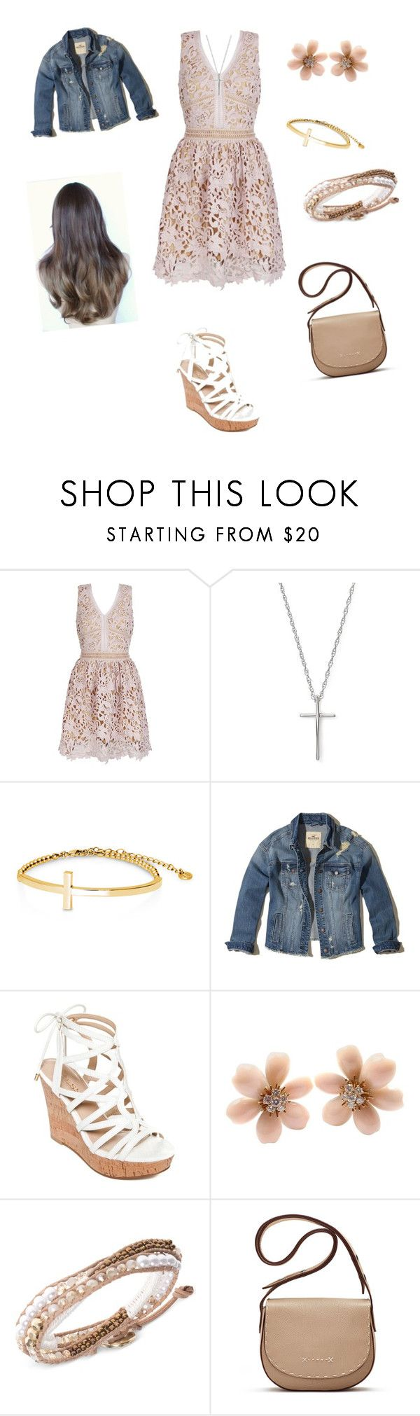 """""""Sunday Style"""" by jess-stylist22 on Polyvore featuring Bloomingdale's, BERRICLE, Hollister Co., GUESS, Van Cleef & Arpels, Lonna & Lilly and Elizabeth and James"""
