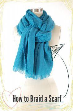 How to braid a scarf! #scarf