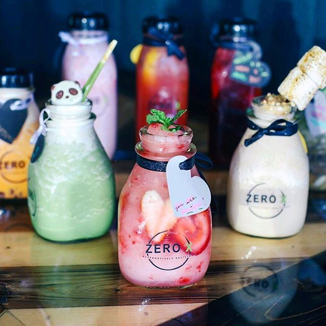Exclusive drinks @zeroxzerox  pink guava, freezy matcha, Thai tea slush, pink lychee, smores coffee, and more! #CelineCuisine : @ryanbyryanchua
