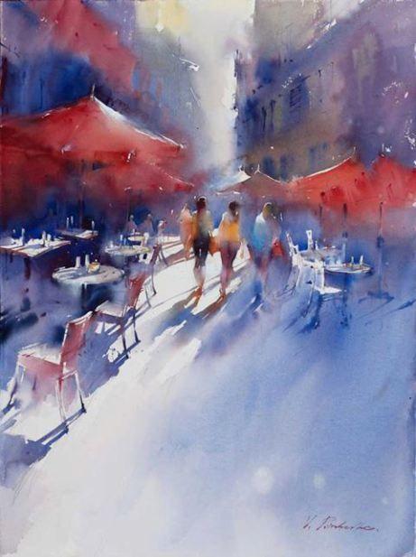 Artwork watercolour by Viktoria Prischedko on DesArts