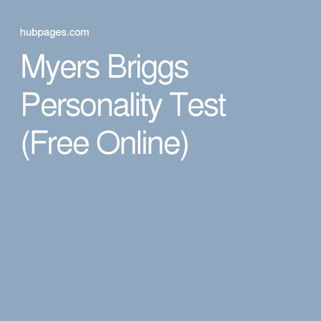 Myers Briggs Personality Test (Free Online)