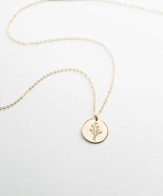 Wildflowers, Special Edition Floral Bouquet Necklace in Gold, Silver or Rose Gold • Flowers, Personalized Gifts for Her • LN209, LN213 – #OOTD
