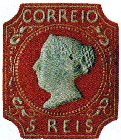 Primeiro selo de Portugal, criado em 1853.