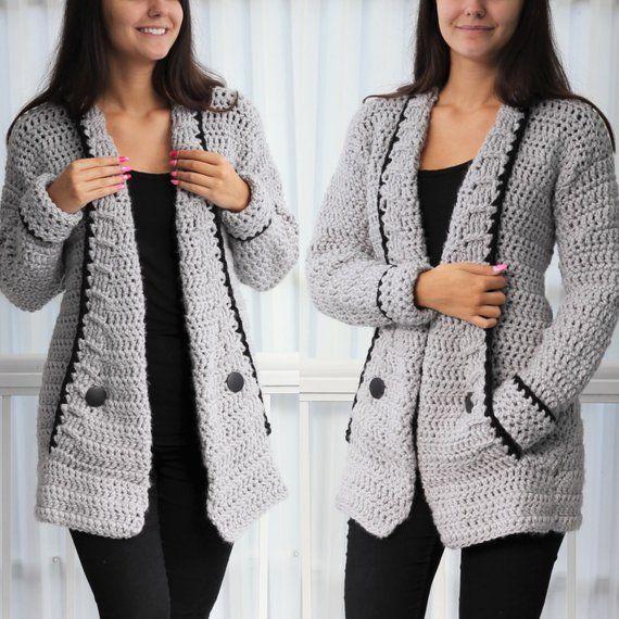 Crochet Pattern Crochet Pattern-Mia Crochet Cardigan PDF | Etsy