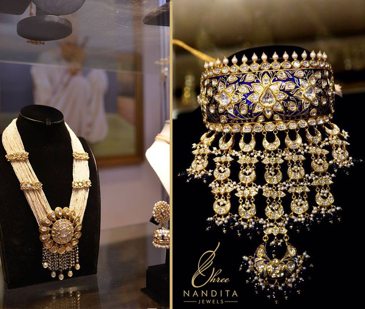Traditional Rajasthani #ornaments with #kundan work is a sign of royalty with a touch of modern ethnicity.