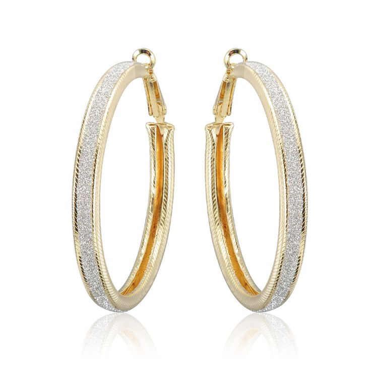 >> Click to Buy << LZESHINE Hot Gold Color Matorral Hoop Earrings For Women Fashion Party Design Silver Big Circle Earrings Statement Jewelry #Affiliate