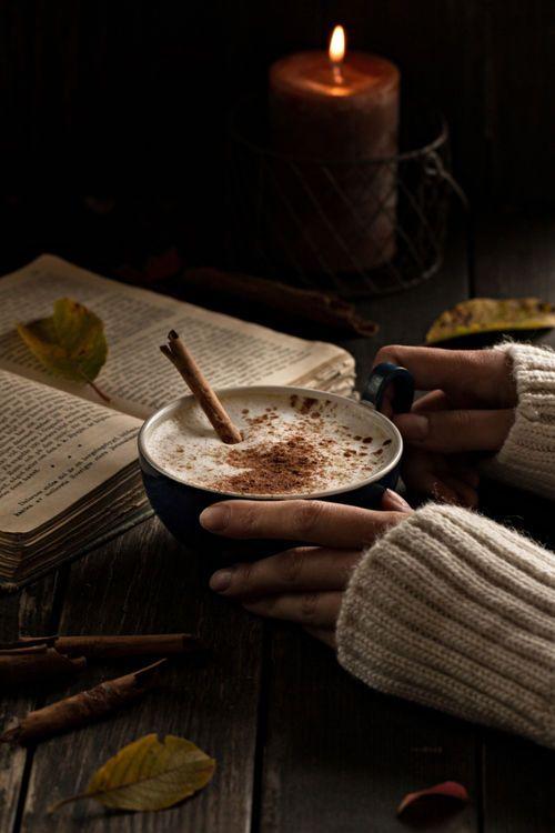 A hot mug and a good book.