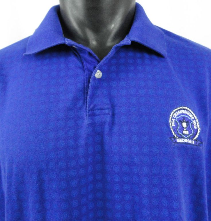 Cutter & Buck DryTec L 2006 PGA Golf Championship Polo Shirt Blue CB Medinah…