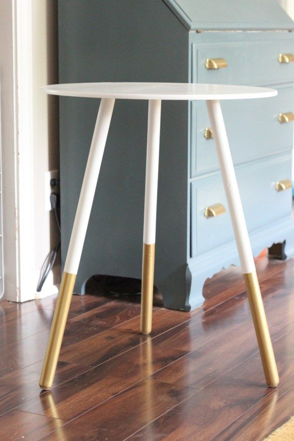 West Elm hack. We all have these cheap Anna linens side tables. Now it can be as modern and hip as west elm.