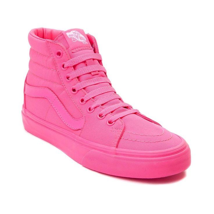 Vans Hi Sk8 Shoe Neon Pink Mono $64.99