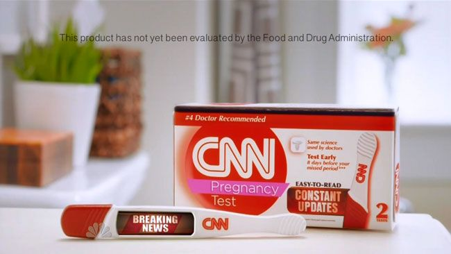 """Saturday Night Live CNN pregnancy test commercial:   SNL literally pisses all over CNN's so-called """"breaking news"""" coverage of flight 370 with a commercial featuring the equally accurate CNN pregnancy test.   #snl #saturdaynightlive #tv #funny #commercial #BeckBennett #VanessaBayer    http://l7world.com/2014/04/saturday-night-live-cnn-pregnancy-test-commercial.html"""
