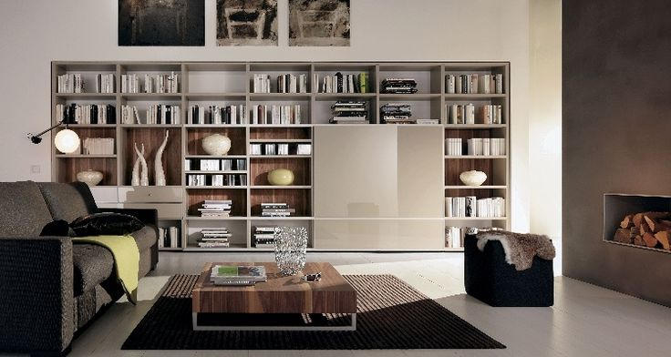 Contemporary home library - put the books you love on display!