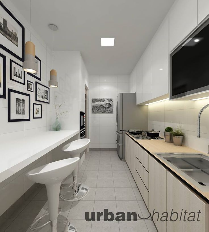 Kitchen Room Interior Design: HDB 4-Room BTO Minimalist Charm @ Anchorvale