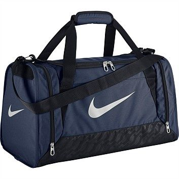 Rebel Sport - Nike Unisex Brasilia 6 Duffle Bag Navy