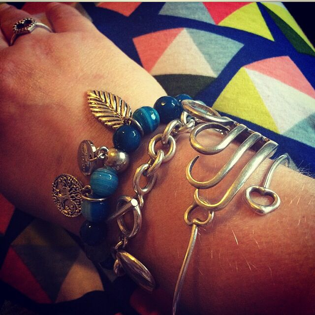 "Kimba is wearing our ""Enjoy the Silence"" bracelet today!"