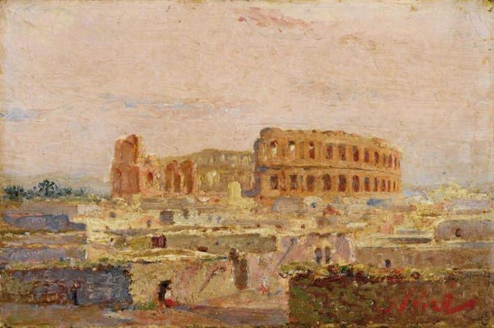 Peinture Tunisie - Amphithéâtre d'El-Djem (Tunisie) von Maxime Noiré