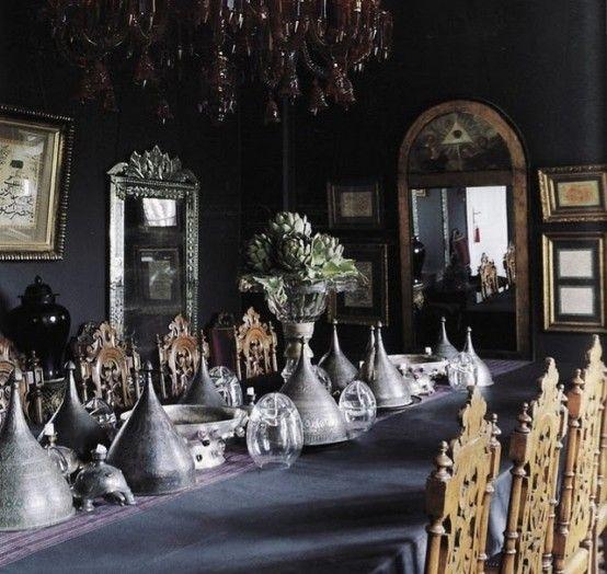 gothic interior storage design dark rooms gothic wedding dining room